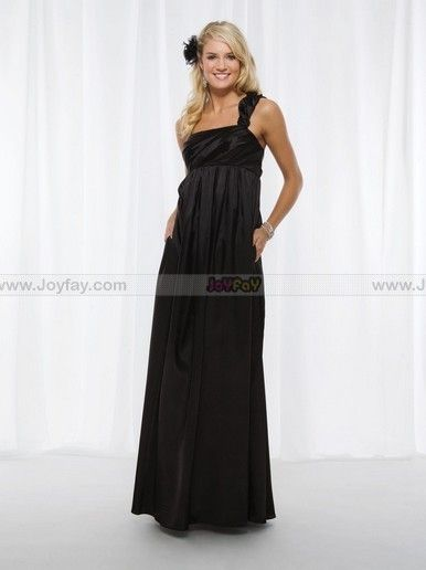 A-line Strapless Sleeveless Floor-length Bridesmaid Dress