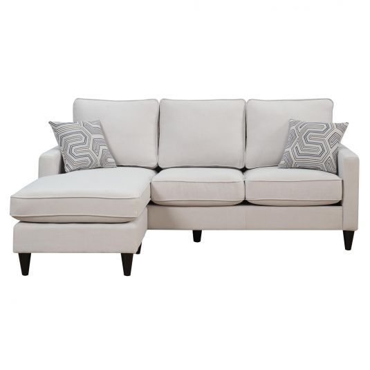 Nova Sectional Sofa Chaise In Taupe