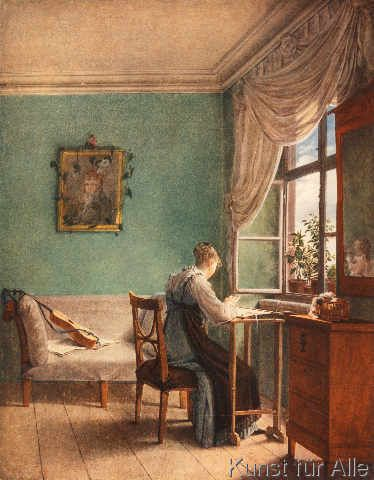 Georg Friedrich Kersting - The Embroiderer
