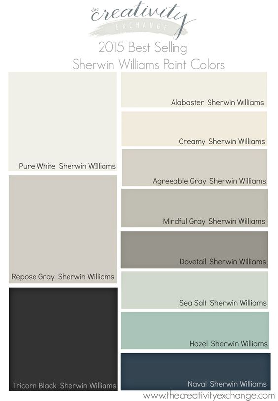 2015 best selling and most popular paint colors sherwin Most popular grey paint