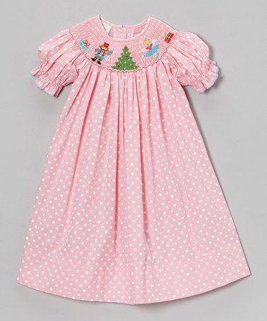 Another great find on #zulily! Pink Polka Dot Nutcracker Bishop Dress - Infant, Toddler & Girls #zulilyfinds