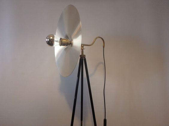 Designer Einzelstück Bauhaus Stativlampe Art Deco Stehlampe Sonnenscheibe Effekt | eBay