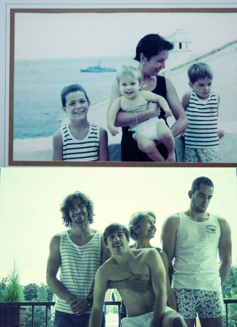 re-creation of family photos. funny!