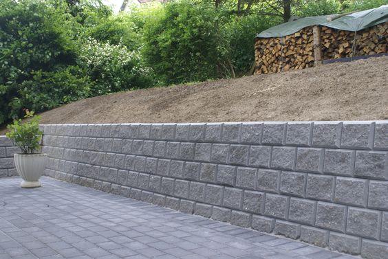 Støttemur gir en fin ramme IBF Støttemur Pinterest Garden - hohlsteine fur gartenmauer