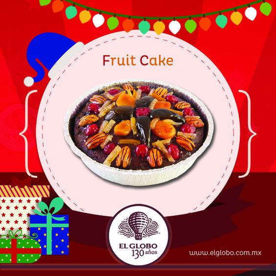 ¡No olvides un delicioso #FruitCake para estas #fiestas!  #Pastel tradicional #navideño de origen europeo, elaborado con #fruta confitada y aromáticas especias, bañado con un jarabe de ron.