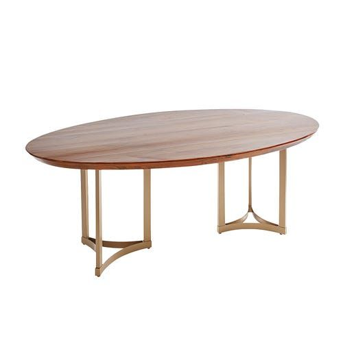 Chester Brown Wood 82 Oval Dining Table In 2020 Oval Table