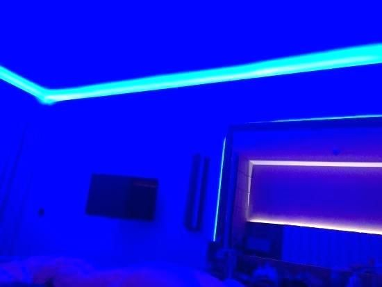 Neon Blue Bedroom Rooms With Neon Lights Blue Neon Bedroom Lights