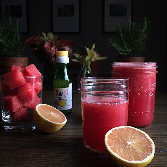 thejudylab's photo on Instagram - Watermelon juice w yuzu and lemons