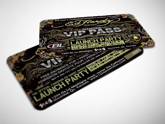 VIP Card Ed Hardy Shoes Event   NAC design