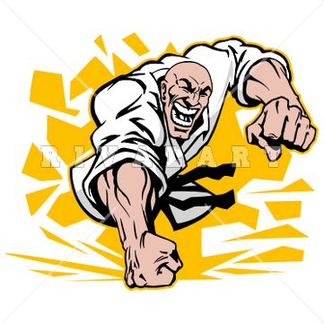Sports Clipart Image of Martial Arts Fighters http://www.rivalart ...