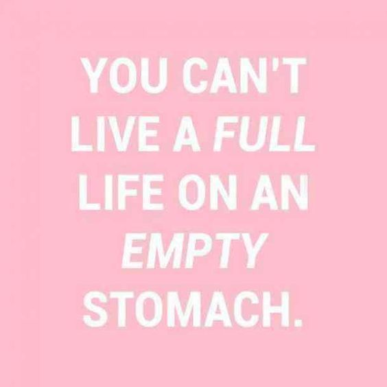 """""""You can't live a full life on an empty stomach."""" #happyquotes #positivequotes #happy #happiness #quotes Follow us on Pinterest: www.pinterest.com/yourtango"""