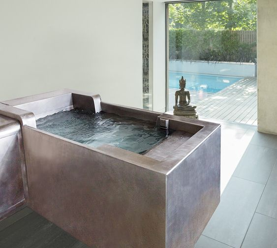 """Stainless Steel Cold Plunge Tub with Remote chiller 40"""" x 96"""" x 29"""""""