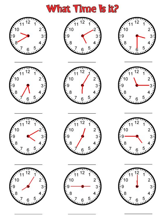 Free printable blank clock faces worksheets – Maths Clock Worksheets