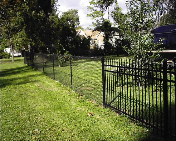 Black Chain Link Fence For The Home Pinterest Hedges