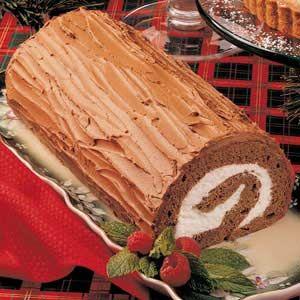 christmas chocolate log christmas yule log recipe chocolate yule log ...