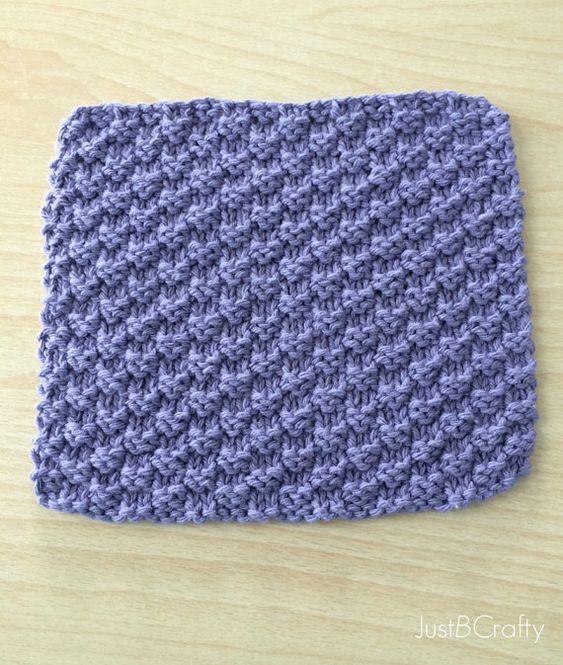 Texturé torchon tricot modèle imprimable PDF par JustBeCraftyShop