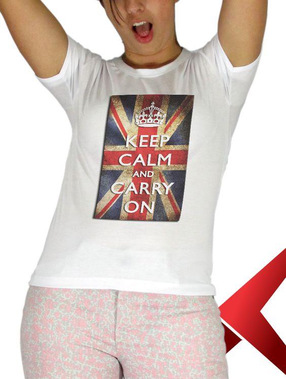 Agora sim você poderá ter sua primeira T-shirt com a famosa frase Keep Calm.. você sempre quis, porém nunca teve a oportunidade, compre agora mesmo!