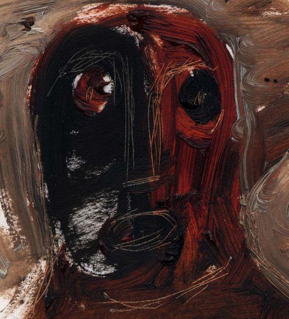 'Head3' by British artist, illustrator & printmaker Melvyn Evans. Painting. via the artist's site