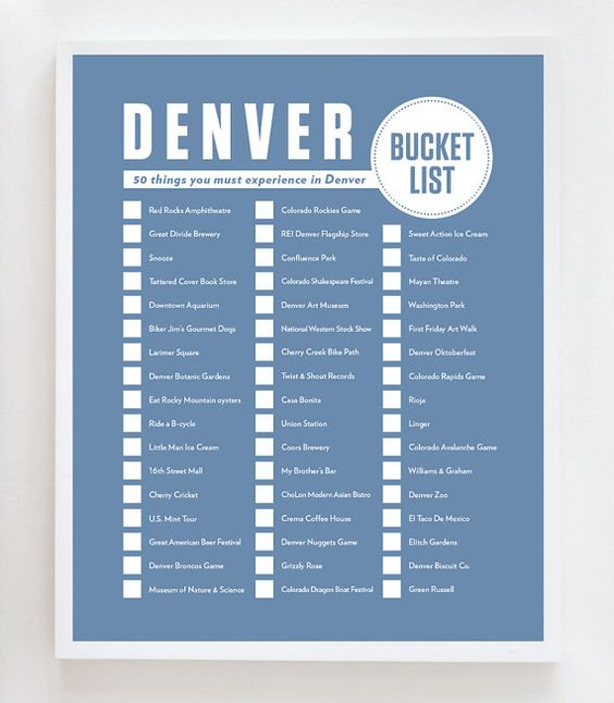 Denver Bucket List: 50 things you must experience in Denver, CO