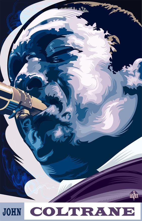 John Coltrane - Illustration by Garth Glazier