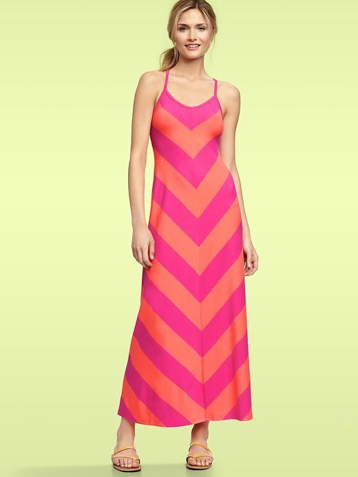 Chevron Stripe Maxi Dress - $74.95 by Gap