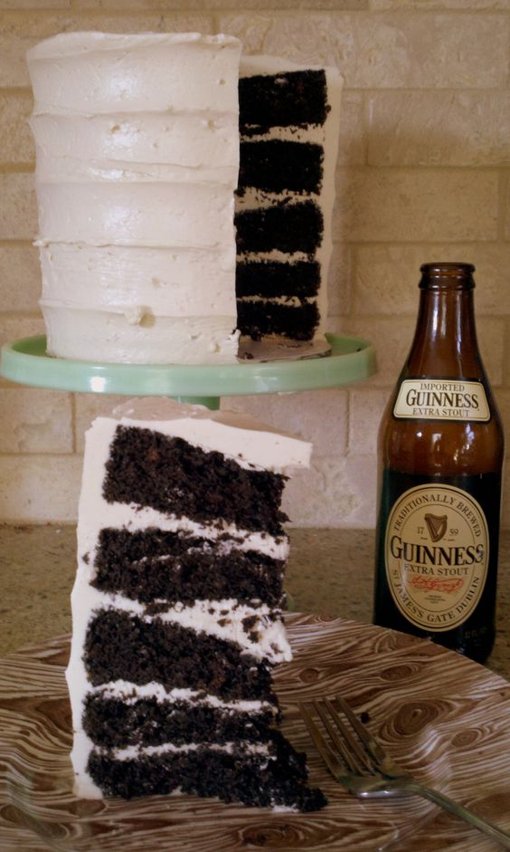 Guinness Stout Chocolate Cake with Guinness Stout Buttercream Icing