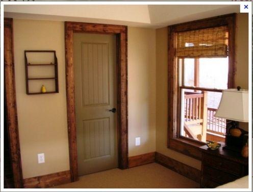 Black doors with wood trim 45 kb jpeg painted for Yellow pine wood doors