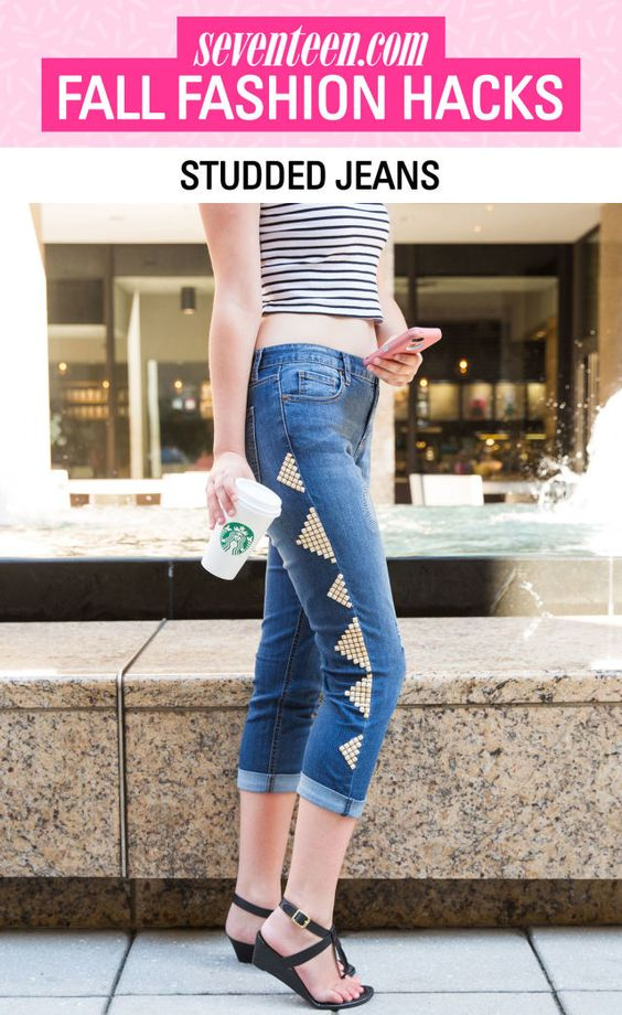 8 Genius Hacks to Transform Last Year's Clothes Into Fall's Hottest Trends  - Seventeen.com
