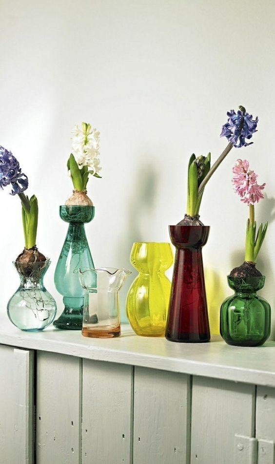 vase grand vase en verre deco vase transparent avec fleurs