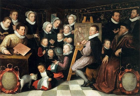 1584 Otto van Veentto Van Veen (Brussels painter, c 1556-1629) Self Portrait with Family