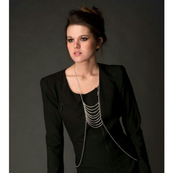 Silver layered body chain Unique body chain keywords: boho, glam statement necklace Boutique Jewelry Necklaces