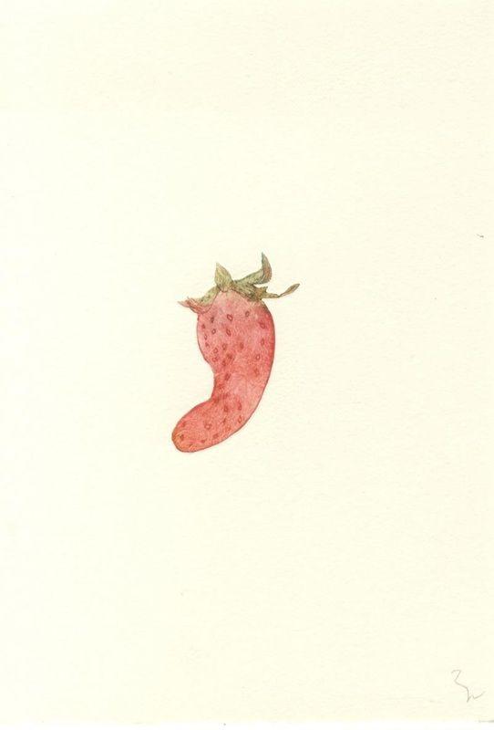 Inigo no Ichigo  /  148×100mm, print on paper, 2014
