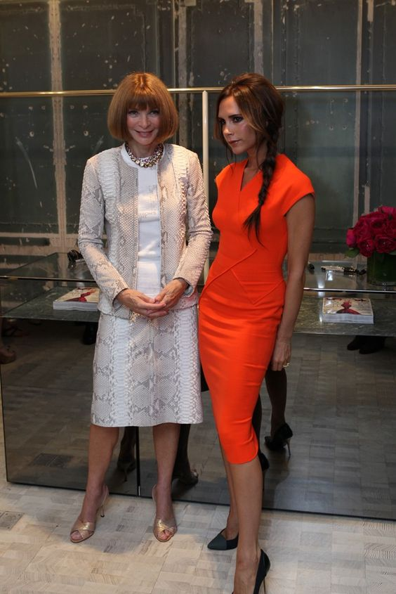 Anna Wintour and Victoria Beckham at FNO