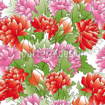 Ocean Of Peonies by Viktoryia Yakubouskaya available for download as a vector file on patterndesigns.com