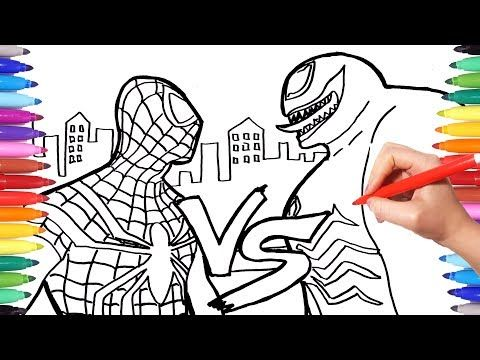 Spiderman Vs Venom Coloring Pages How To Draw Spiderman And Venom Superheroes Coloring Book Yo Cars Coloring Pages Spiderman Coloring Lion Coloring Pages