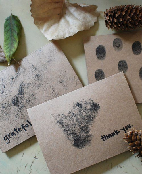 Nature-inspired thank you notes.