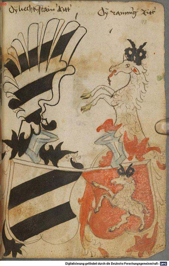 Ortenburger Wappenbuch Bayern, 1466 - 1473 Cod.icon. 308 u  Folio 98r