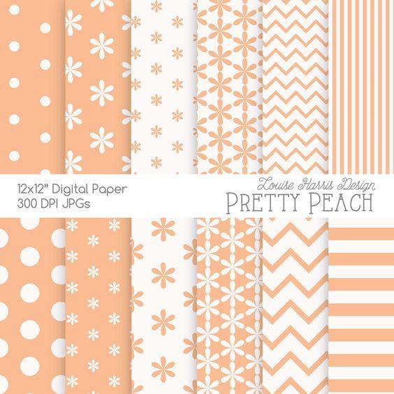 Peach Scrapbook Paper-13