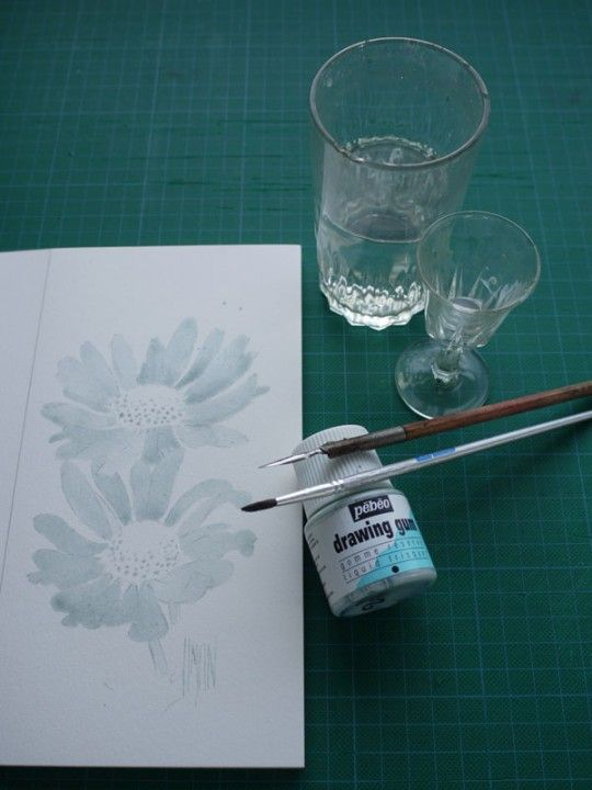 Aquarelle Art Astuces Drawing Gum Materiel Pinceau Aquarelle