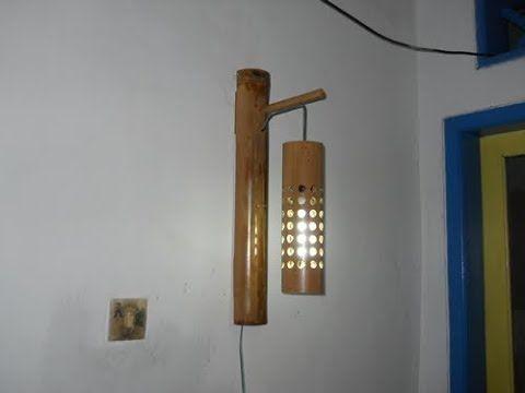 Cara Pembuatan Lampu Dinding Gantung Dari Bambu Youtube Lampu Lampu Dinding Lampu Gantung