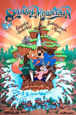 Disneyland Splash Mountain 1989 Poster