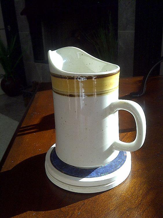Rainbow Stoneware 650 Sunkiss Creamer Japan by maggiecastillo, $5.48