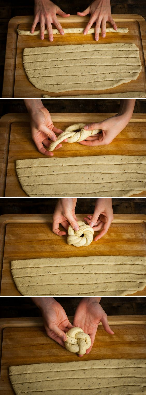 These Vegan Roasted Garlic & Herb Dinner Rolls are so good! They're also easier than you'd think. They can be made in regular roll shape, or into these pretty knots. I LOVE the knots - they look so fancy but really aren't much more work!