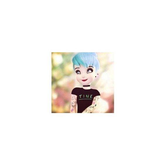 Punk Disney Princesses ❤ liked on Polyvore featuring disney