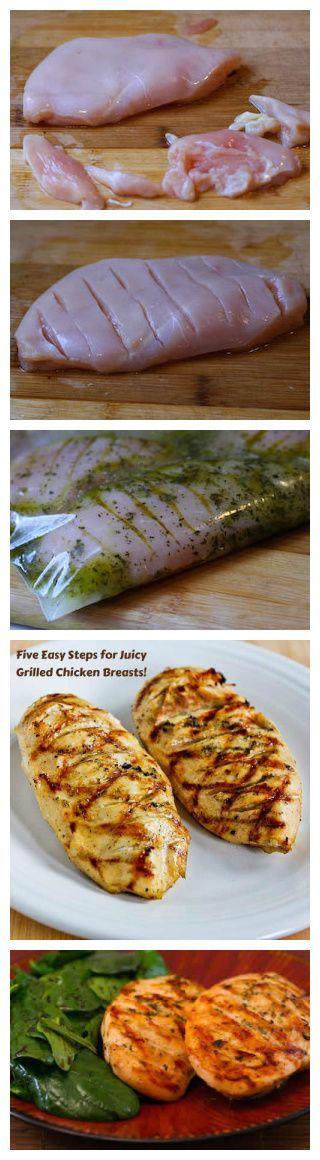 Como fazer suculentos Peitos de Frango Grelhados Every Time | Nosh-up