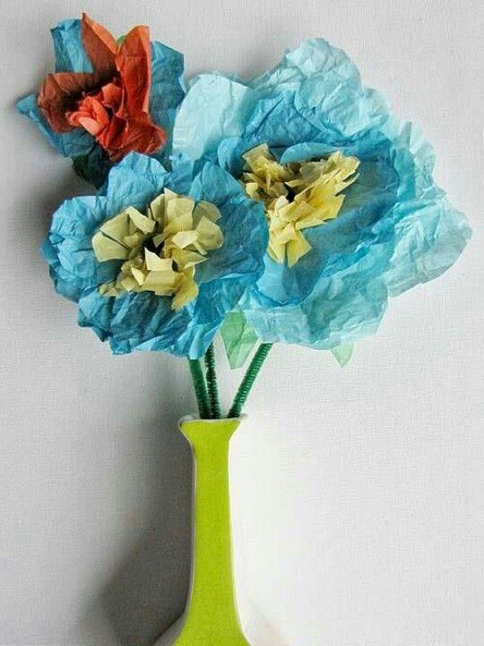 flors amb papers de seda