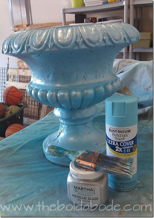 Concrete Planters Planters And Spray Painting On Pinterest
