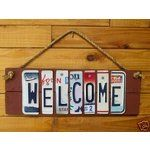 License Plate Art Sign