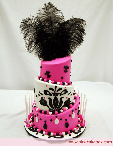 moulon rouge themed parties | Bat Mitzvah Cakes » Pink Cake Box Wedding Cakes & more page 2