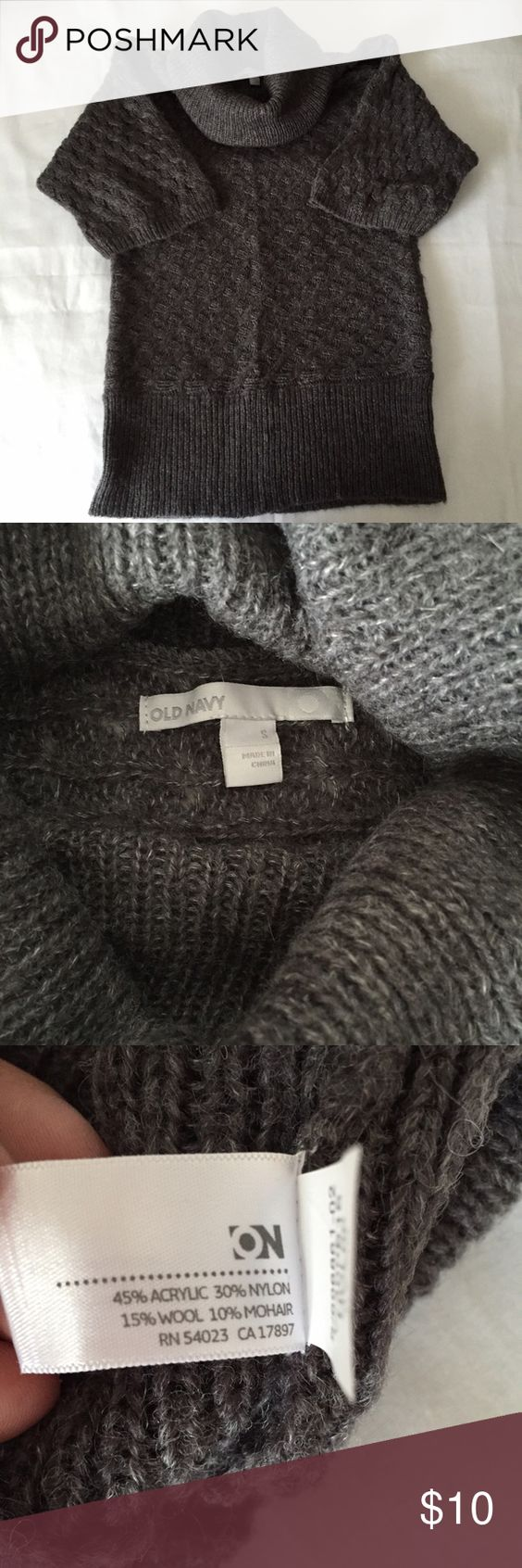 Old navy sweater S Short sleeve cowlneck sweater in EUC. Old Navy Sweaters Cowl & Turtlenecks